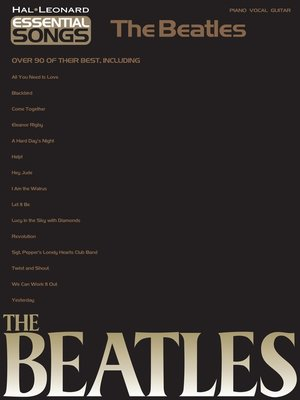 cover image of Essential Songs--The Beatles (Songbook)