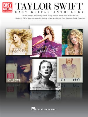 cover image of Taylor Swift--Easy Guitar Anthology