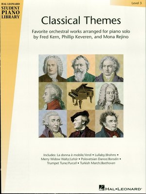 cover image of Classical Themes--Level 3 (Songbook)