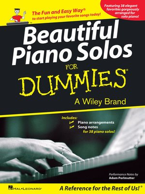 cover image of Beautiful Piano Solos for Dummies