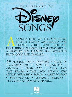 cover image of The Library of Disney Songs