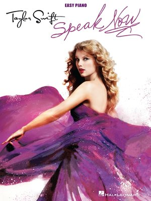 cover image of Taylor Swift--Speak Now (Songbook)