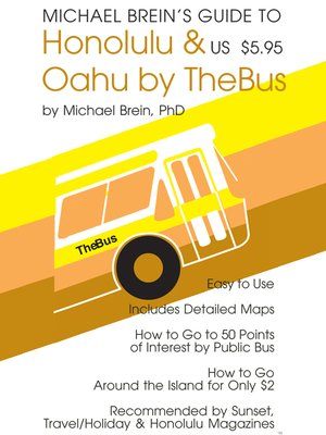 cover image of Michael Brein's Guide to Honolulu by Public Bus