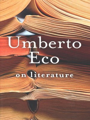 cover image of On Literature