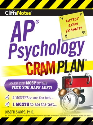 cover image of CliffsNotes AP Psychology Cram Plan
