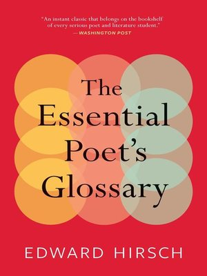 cover image of The Essential Poet's Glossary