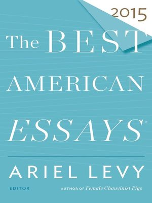 cover image of The Best American Essays 2015