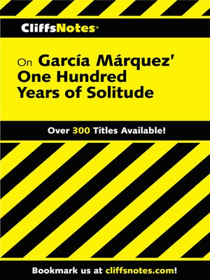 cover image of CliffsNotes on Garcia Marquez' One Hundred Years of Solitude