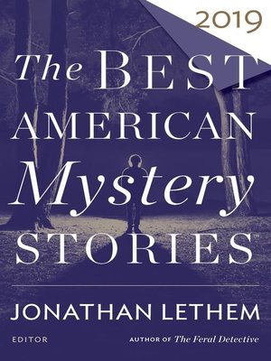 cover image of The Best American Mystery Stories 2019
