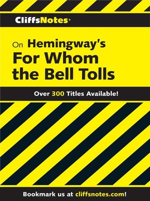 cover image of CliffsNotes on Hemingway's For Whom the Bell Tolls
