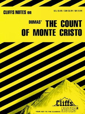 cover image of CliffsNotes on Dumas' the Count of Monte Cristo