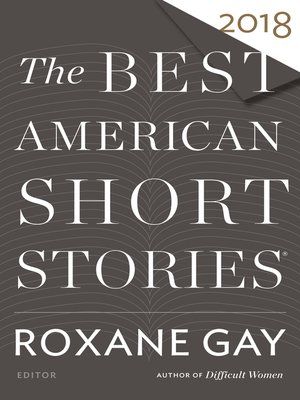 cover image of The Best American Short Stories 2018