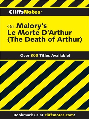 cover image of CliffsNotes on Malory's Le Morte Darthur