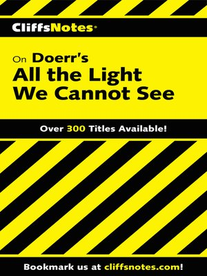 cover image of CliffsNotes on Doerr's All the Light We Cannot See