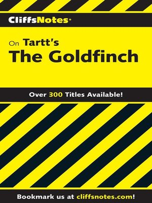 cover image of CliffsNotes on Tartt's the Goldfinch