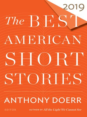 cover image of The Best American Short Stories 2019