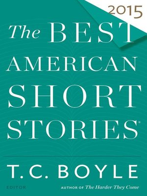 cover image of The Best American Short Stories 2015