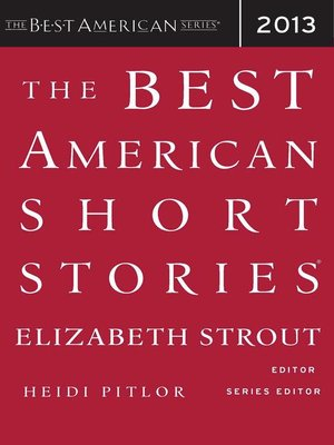 cover image of The Best American Short Stories 2013