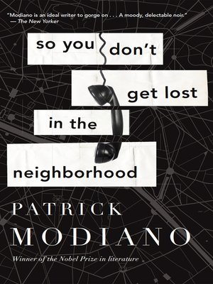 cover image of So You Don't Get Lost in the Neighborhood