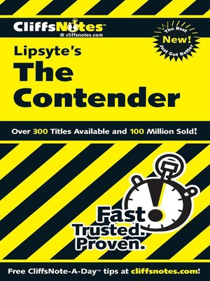 cover image of CliffsNotes on Lipsyte's the Contender
