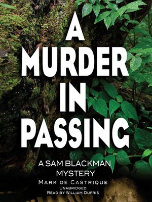 cover image of A Murder in Passing