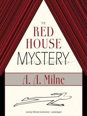 cover image of The Red House Mystery