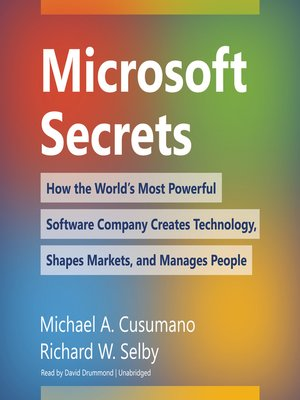 cover image of Microsoft Secrets
