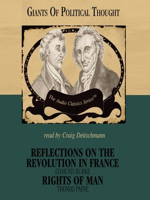 cover image of Reflections on the Revolution in France and Rights of Man