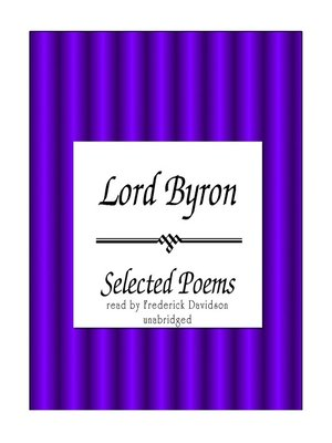 cover image of Lord Byron: Selected Poems