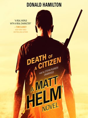 cover image of Death of a Citizen