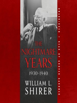 cover image of The Nightmare Years, 1930–1940