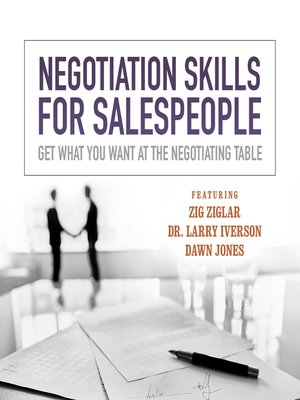 cover image of Negotiation Skills for Salespeople
