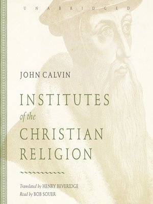 cover image of Institutes of the Christian Religion