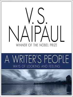 cover image of A Writer's People