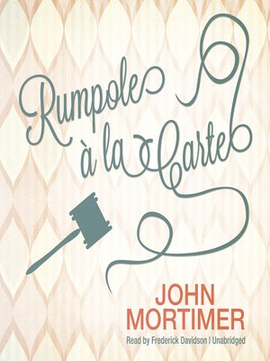cover image of Rumpole à la Carte