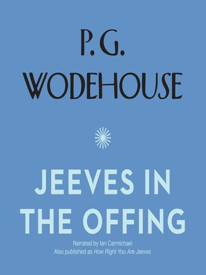 cover image of Jeeves in the Offing