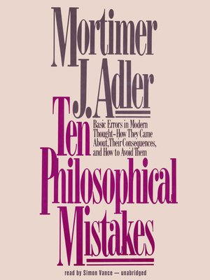 cover image of Ten Philosophical Mistakes
