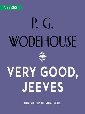 cover image of Very Good, Jeeves