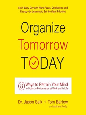 cover image of Organize Tomorrow Today