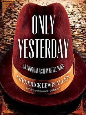 cover image of Only Yesterday