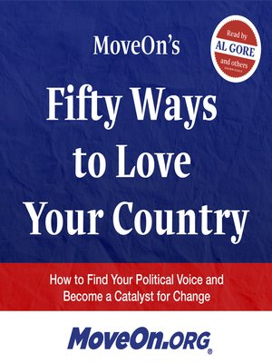 cover image of MoveOn's 50 Ways to Love Your Country