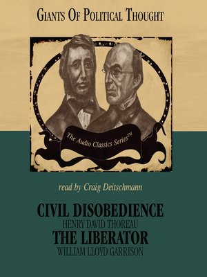 cover image of Civil Disobedience and The Liberator