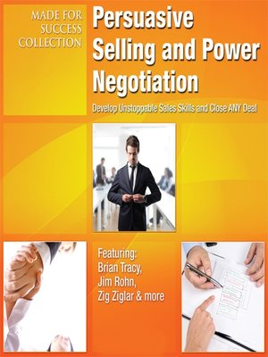 cover image of Persuasive Selling and Power Negotiation