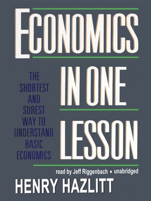 cover image of Economics in One Lesson