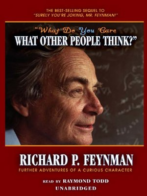 "cover image of ""What Do You Care What Other People Think?"""