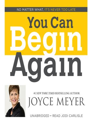 cover image of You Can Begin Again