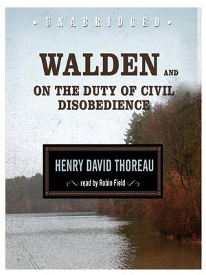 cover image of Walden and On the Duty of Civil Disobedience