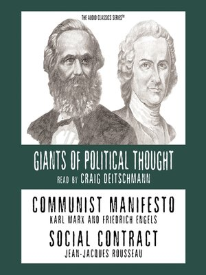 cover image of Communist Manifesto and Social Contract