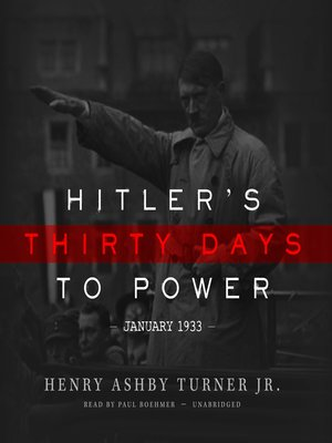cover image of Hitler's Thirty Days to Power