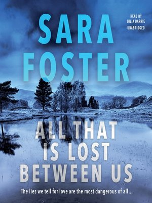 cover image of All That Is Lost between Us